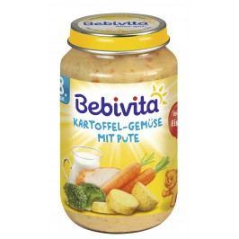 Bebivita Brambory-zelenina s krůtím masem 6x220g