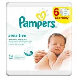 Pampers Ubrousky Sensitive 6x56ks