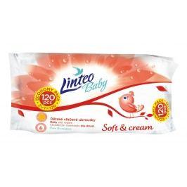 Linteo Baby Vlhčené ubrousky Soft & Cream 120 ks