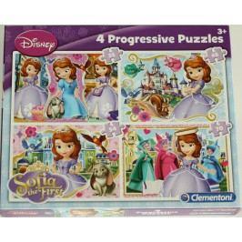 CLEMENTONI Puzzle Sofie První 4 v 1