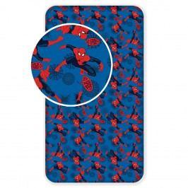 Jerry Fabrics Dětské prostěradlo Spiderman 2017, 90x200 cm - modré