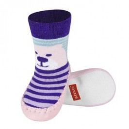 SOXO® Dívčí ponožky s podrážkou Medvěd - barevné