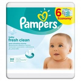 Pampers Ubrousky Fresh Clean 6x64ks