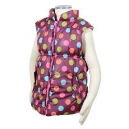 PIDILIDI Dívčí vesta s barevnými puntíky - fialová