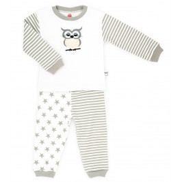 Makoma Dívčí pyžamo Sova - bílo-hnědé