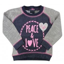 Dirkje Dívčí mikina Peace and love - šedá
