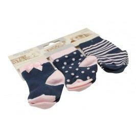 Dirkje Dívčí ponožky 3 ks - modré