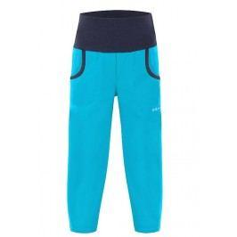 Unuo Dětské softshellové kalhoty bez zateplení Aqua New - modré