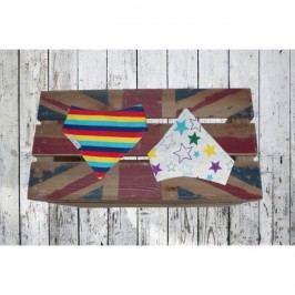 Blade & Rose Dětský šátek s hvezdičkami a proužky - barevný