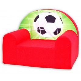 Baby Nellys Dětské křesílko Fotbal v červené