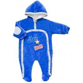 2be3 Chlapecký zateplený overal Star - modrý
