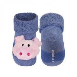 SOXO® Chlapecké ponožky s prasátkem - modré