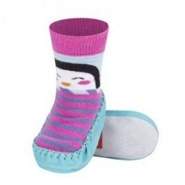SOXO® Dívčí ponožky s podrážkou Tučňák - barevné