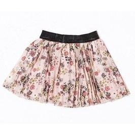 Minoti Dívčí skládaná sukně s květinami Dusk - růžová