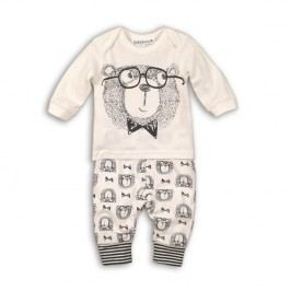 Minoti Chlapecký dvojkomplet tepláčky+tričko Sketchy - bílý