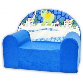 Baby Nellys Dětské křesílko Safari v modré