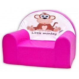 Baby Nellys Dětské křesílko Opička Nellys růžová