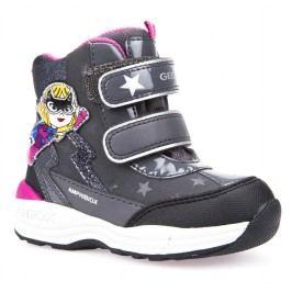 Geox Dívčí svítící zimní boty New Gulp  - šedé