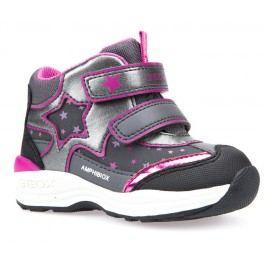 Geox Dívčí zimní boty s hvězdou New Gulp  - šedé