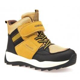 Geox Chlapecké zimní boty Orizont  - žluto-hnědé