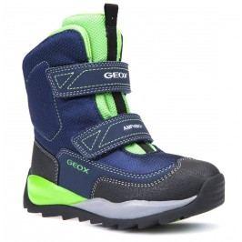 Geox Chlapecké zimní boty Orizont  - modro-zelené