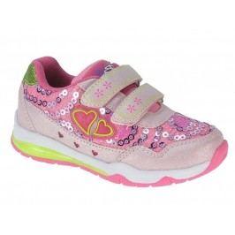 Beppi Dívčí svítící tenisky - růžové