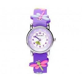 Cannibal Dívčí hodinky s vážkami - fialové