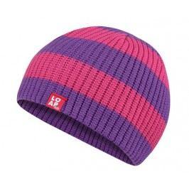 LOAP Dívčí pruhovaná čepice Malvin - růžovo-fialová