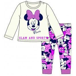 Disney by Arnetta Dívčí set trička a legín Minnie - béžovo-růžový