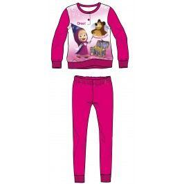 Disney by Arnetta Dívčí pyžamo Máša a Medvěd - tmavě růžové