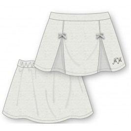 Mix 'n Match Dívčí sukně s mašličkami - světle šedé