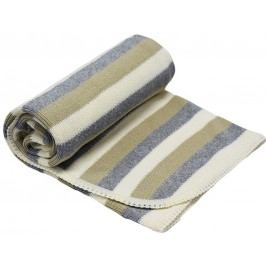 EKO Pletená deka pruh, béžová