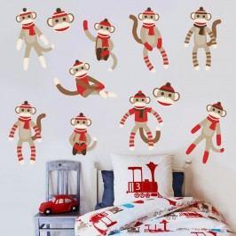 Housedecor Samolepka na zeď Opičky a opičáci 90x60 cm