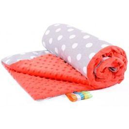 My Best Home Minky deka Light 75x100 cm, puntini šedá-červená