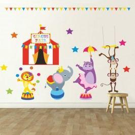 Housedecor Samolepka na zeď Cirkusove vystoupení