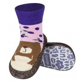 SOXO® Dětské ponožky s podrážkou Medvěd - barevné