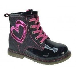 Beppi Dívčí kotníkové boty - černé