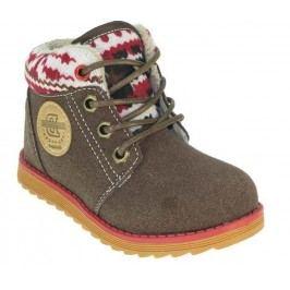 Beppi Dětské kotníkové boty - hnědé