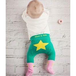 Blade & Rose Dívčí punčocháče s hvězdičkou - růžovo-zelené