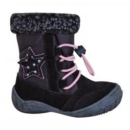 Protetika Dívčí zimní boty Siera - černé