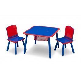 Delta Dětský stůl s židlemi - modro-červený