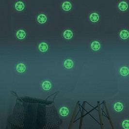 Walplus Svítící samolepka na zeď Fotbalové míče