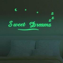 Walplus Svítící samolepka na zeď Sweet dreams
