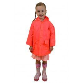 PIDILIDI Dívčí neonová pláštěnka - oranžová