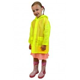 PIDILIDI Dětská neonová pláštěnka - žlutá