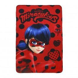 Disney Brand Dívčí fleecová deka Ladybug, 100x150 cm