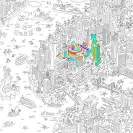 OMY DESIGN & PLAY Velké omalovánky XXL New York