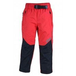 PIDILIDI Dívčí outdoorové kalhoty s fleecem - červené