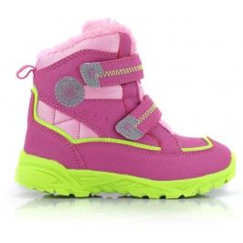 ALPINE PRO Dívčí zimní boty Kibbi - růžová
