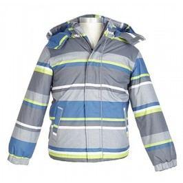 Nickel sportswear Chlapecká proužkovaná zateplená bunda - barevná